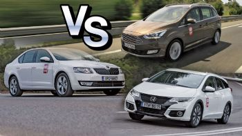 Grand C-Max Vs Civic Tourer Vs Octavia