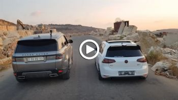 VW Golf GTI Vs Range Rover Sport