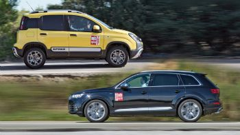 Fiat Panda Cross Vs Audi SQ7