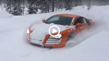 Audi quattro στα χιόνια