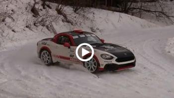 Abarth 124 Rally & χιόνια
