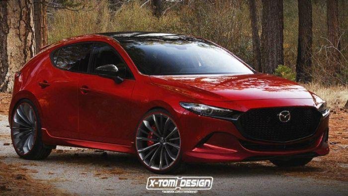 Πρώτο teaser για το Mazda 3 turbo.  Πρώτο teaser για το Ma turbo